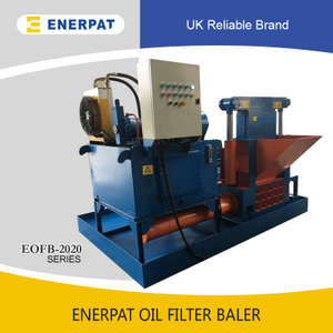 Oil Filter Compactor Machine