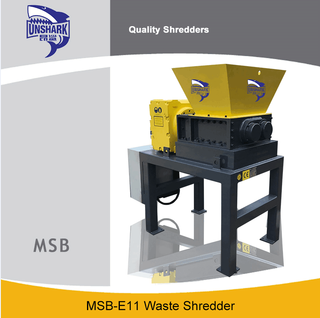 Commercial Tin Cans Two Shaft Shredder MSB-E11